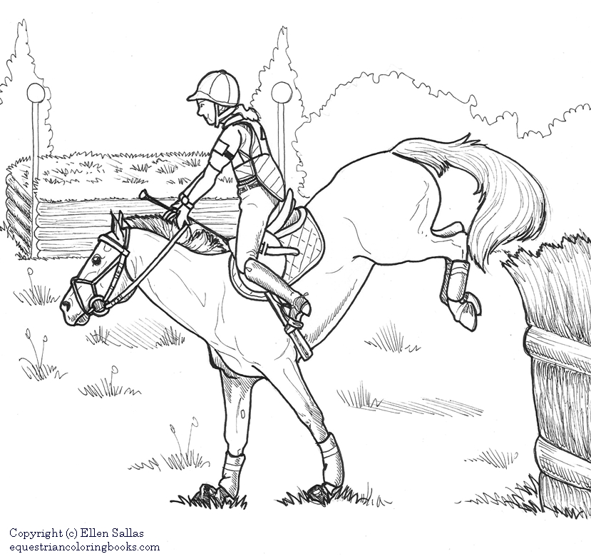 eventing coloring pages - photo#9
