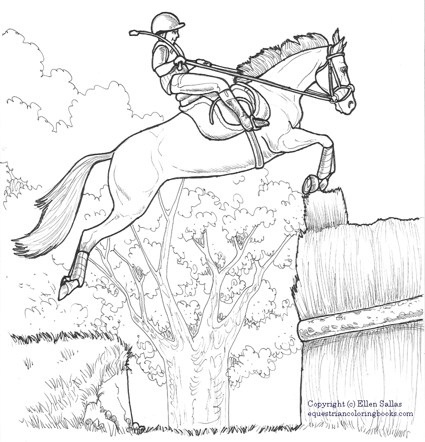 eventing coloring pages - photo#7