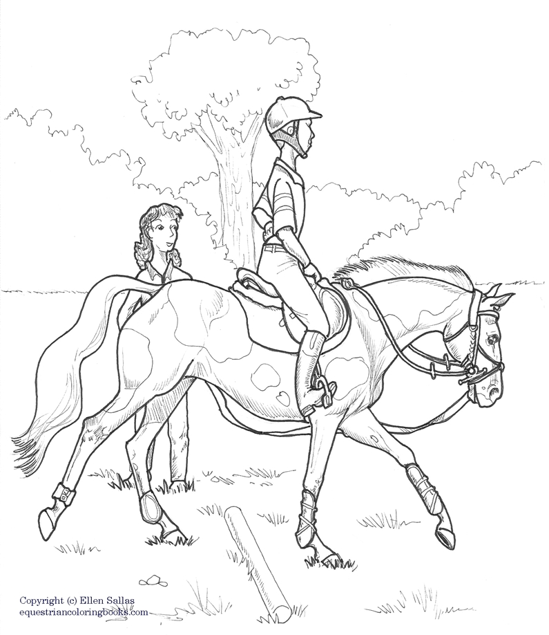 eventing coloring pages - photo#6