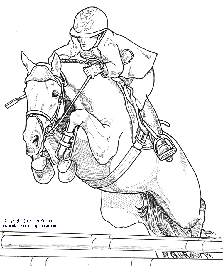 eventing coloring pages - photo#1